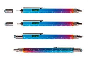 Ручка шариковая Construction Spectrum, мультиинструмент, радужная